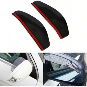 2Pcs Rear View Side Mirror Rain Board Eyebrow Guard Sun Visor Car Accessories US