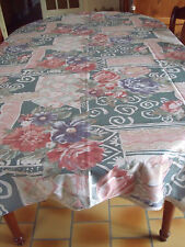 NAPPE VINTAGE ANNEE 80' 100% POLYESTER 2.45 M  x 1.50 M