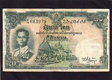 Thailand 20 Baht P-77a    1953    VG+/F