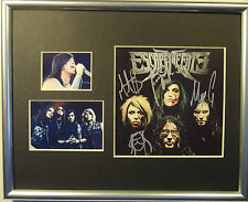SIGNED ESCAPE THE FATE AUTOGRAPHED CD 8X10 DISPLAY W/PICS NICE!