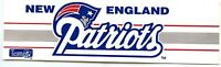 "NEW ENGLAND PATRIOTS  FOOTBALL TEAM ISSUED STICKER DECAL 6"" VINTAGE 1990'S MINT"