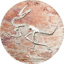 Mongolia 2018 2000 Togrog - Velociraptor - 3 oz Silver Coin