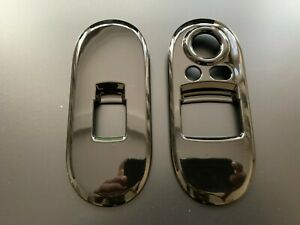 GLOSS BLACK 2DR WINDOW CONTROL SWITCH COVERS FOR MINI COOPER S HATCHBACK F56