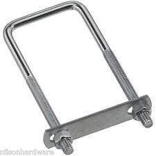 """50 Pk Steel 5/16"""" Dia X 2"""" Wide X 5"""" Long Square U Clamp U Bolt W/Nuts N222364"""