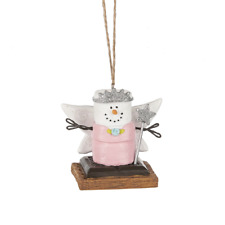 Smores Snowman FAIRY PRINCESS Christmas Ornament, by Midwest CBK