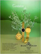▬► PUBLICITE ADVERTISING AD Montre Watch Tentation BAUME & MERCIER