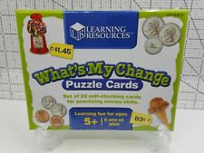 """What's My Change?"" Learning Resources Puzzle Cards- Set of 20 for Homeschooling"