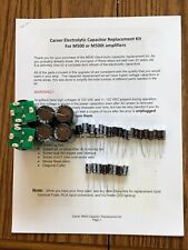 Complete Tech Refresh / Repair Cap Kit for CARVER 500 & 500t amp !