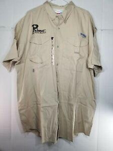 New Men's Columbia PFG Bonehead Vented Fishing Shirt Short Sleeve XL - B2