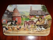 The Leonardo Collection Farmyard Scene Trinket Or Tea Bag Tray COUNTRY LIFE