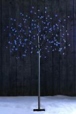 Solar LED Blossom Tree 200 Lights Garden No Batteries Required H 6FT in Blue
