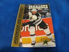 Dallas Stars 1994/95 NHL Hockey Pocket Schedule - Dr. Pepper