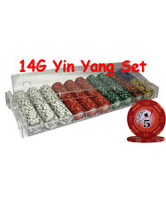 500pcs 14G YIN YANG CASINO POKER CHIPS SET ACRYLIC CASE