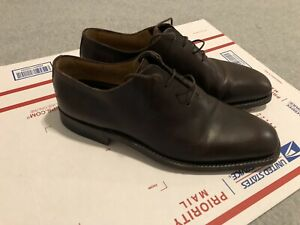 Gianni Versace Hand Made Brown Dress Shoes Mens Size 42 / 9 US Made in Italy