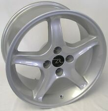 "17"" Silver Ford Mustang Cobra R ® Wheels Staggered 17x8 17x10 Inch 4x108 87-93"