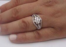 925 STERLING SILVER LADIES DESIGNER RING W/1.50 CTS DIAMOND/SZ 5,6,7,8,9
