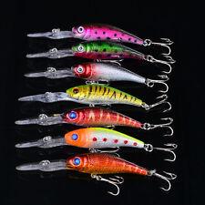 7pcs lot Minnow Dive Bait Bass Fish Tackle Fishing Lures Carbon Hook 10.1cm/7.6g