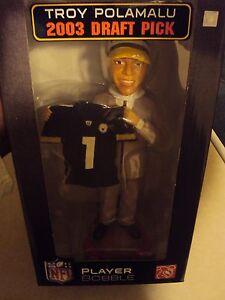 NFL Draft Day Troy Polamalu Player Bobblehead Pittsburgh Steelers /150 2003 Rare