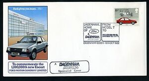 FORD MOTOR COMPANY LIMITED  1,000,000th ESCORT - First Day Cover - 13th OCT 1982