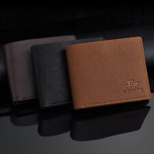 New Men's Faux Leather ID Credit Card Holder Bifold Coin Purse Wallet Money Clip