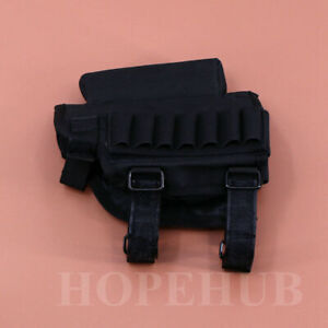 Tactical Bullets Ammo Pouch Holder Nylon Bag Rifle Stock Cheek Rest Pad