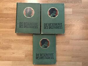 - DIE GESCHICHTE DES WELKRIEGS, 3 Bände
