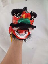 CHINESE BLACK LUCKY LION DRAGON HEAD HAND PUPPET MUPPET BIRTHDAY CHILDREN PARTY