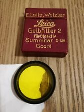 Leica Ernst Leitz summitar Wetzlar   filter.Leica  Yellow no summilux summicron