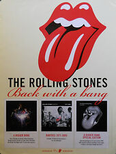 ROLLING STONES, BACK WITH A BANG POSTER (J9)