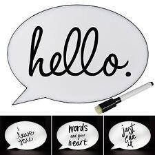 Caja de luz LED de burbuja de voz signo Pantalla Fiesta Boda escribir su propio mensaje