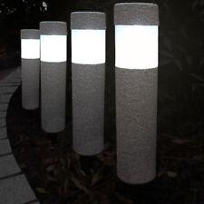 4x LED Solarleuchte Gartenleuchte Steinoptik Leuchte Solarlampe Wegeleuchte