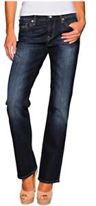 MAVI Damen Jeans Hose Mona Jeanshose Straight dark lux royal Blau Stretch