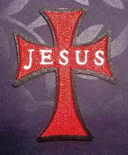 JESUS CROSS PATCH CALVARY GOD JESUS CHRIST CHRISTIANITY DIY