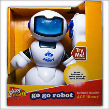 PLAY RIGHT GO GO ROBOT He Walks - FREE FAST EXPEDITED SHIPPING -BLUE-