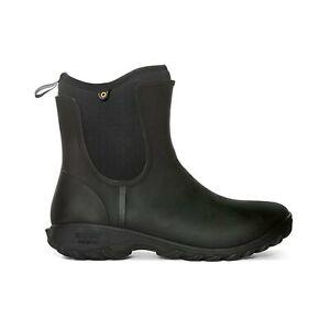 Bogs Womens Wellies Sauvie Slip On Wellington Garden Boot Black
