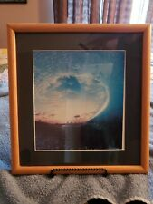 Davey Miller signed surfing print Hawaii Matted & Framed w/ stand