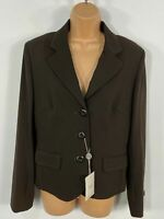 BNWT WOMENS NEXT BROWN TAILORED FITTED SMART WORK SUIT JACKET BLAZER SIZE UK 14