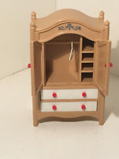Vintage Tomy Dollhouse Furniture Armoire w/ 1 Hanger #11