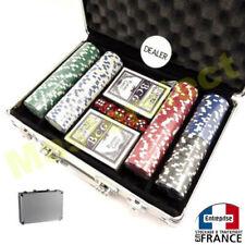 Valise jeu de poker avec 2x jeu de cartes 200 jetons lourd dès