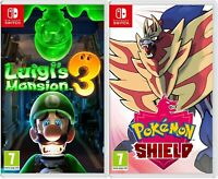 Switch Pokemon Shield and Luigi's Mansion 3 bundle