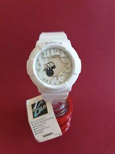 Casio G-Shock Damenuhr Weiß * NEU, Stopwatch Timer, 10 bar, Leuchtzeiger LED