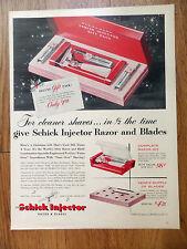 1950 Eversharp Schick Injector Razor & Blades Ad