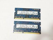 SK Hynix 8GB (2X4GB) 1Rx8 DDR3 PC3L-12800S Laptop Memory Ram HMT451S6DFR8A-PB