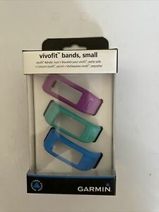 Genuine Garmin Vivofit Replacement  Bands 3 Pack Small NEW Blue Purple Green