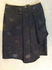 NEXT- BLACK KNEE LENGTH WRAP EVENING SKIRT WITH LONGER WAVE TO EDGE-SIZE 10 BNWT