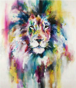 ZOPT288  abstract animal lion head art 100% hand painted oil painting on canvas