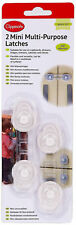 CLIPPASAFE 2 MINI MULTI-PURPOSE LATCHES/LOCKS BABY/CHILD SAFETY PROOFING NEW