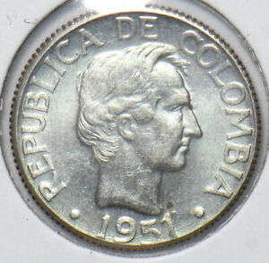 Colombia 1951 10 centavos 293648 combine