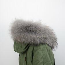 Echt Fell Pelzkragen Kapuzen Kragen Parka 80cm