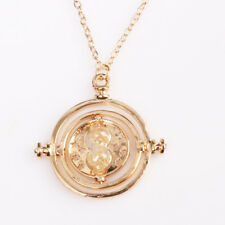 Hermione's Time Turner Hogwarts Cosplay Accessory Golden Hourglass Necklace